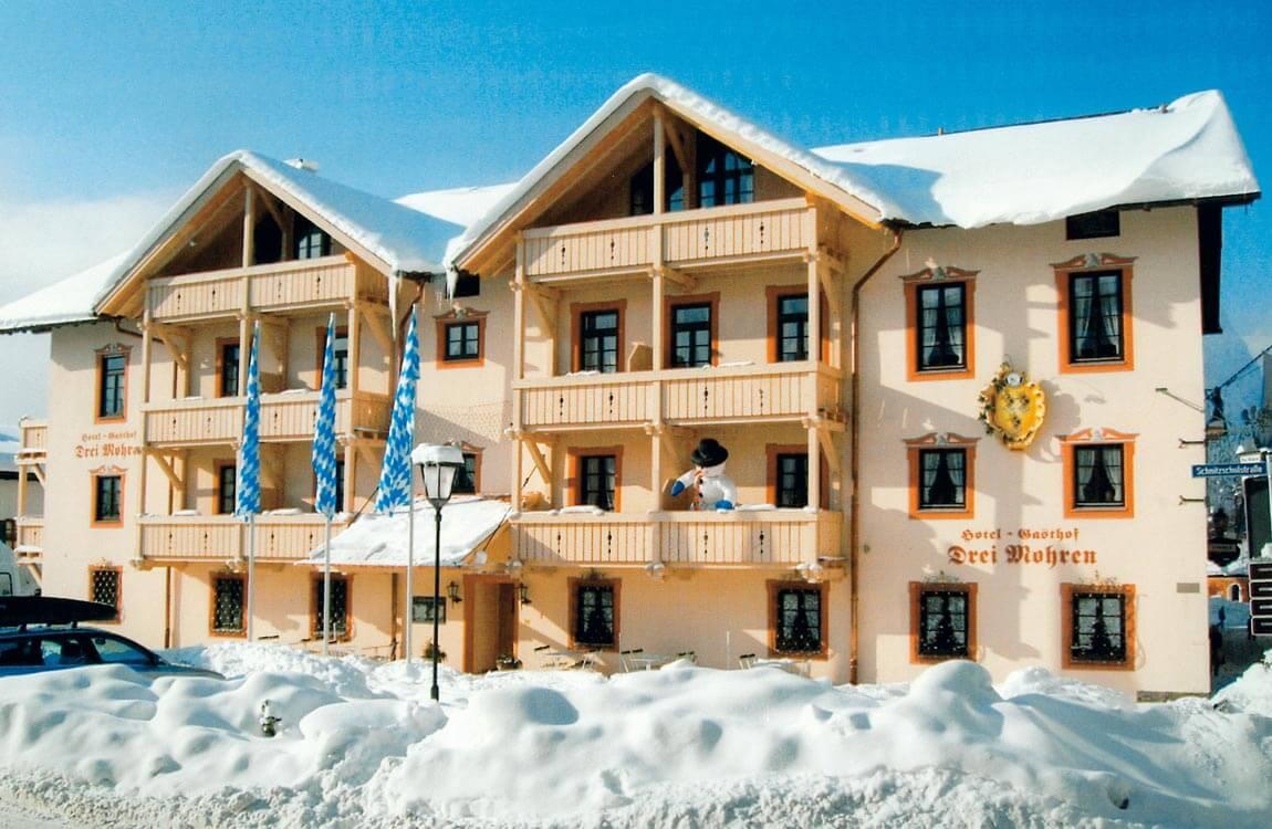 Hotel Drei Mohren Garmisch-Partenkirchen im Winter
